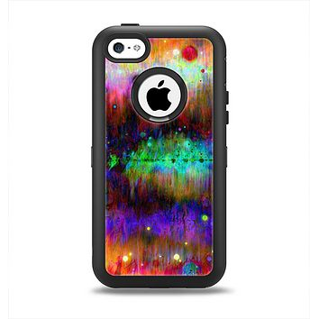 The Neon Paint Mixtured Surface Apple iPhone 5c Otterbox Defender Case Skin Set