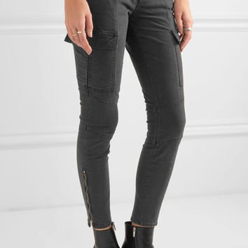 J Brand - Houlihan cropped stretch-cotton twill skinny pants