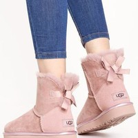 UGG Fashion Casual Mini Bailey Bow Metallic Warm Snow Boots G