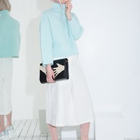 Leila Mint Turtleneck Sweater