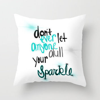 Unique Sparkle Throw Pillow by jlbrady213 & KBY | Society6