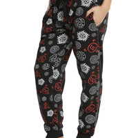 Supernatural Symbols Print Girls Jogger Pants