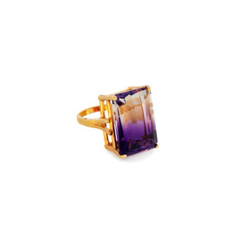 Large Ametrine Cocktail Ring
