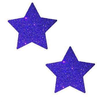 Purple Glitter Star Pasties
