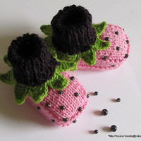 "Baby booties ""Blueberry Cocktail """