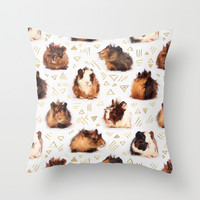 The Essential Guinea Pig Throw Pillow by Micklyn