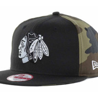 Chicago Blackhawks NHL Mid Camo 9FIFTY Snapback Cap
