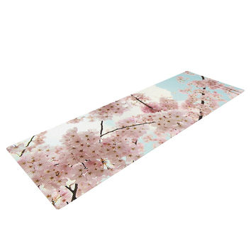 "Sylvia Cook ""Spring Beauty"" Pink Blue Yoga Mat"