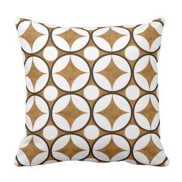 Gold Stars White Dots Decor-Soft Pillows