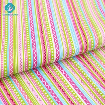 50cm*160cm Bohemian Colorful Stripe Cotton Fabric For Sewing,Bedding Textile Cloth,Pillows And Quilting Crafts