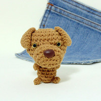 Amigurumi Vizsla, Crochet Dog. Cute Vizsla plushie. Crochet dog. Crochet Vizsla. Stocking stuffer