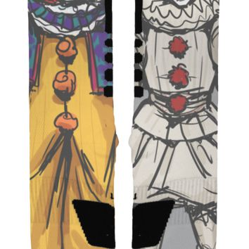 Scary Clown Custom Nike Elite Socks