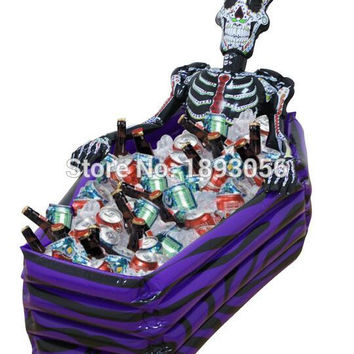 PVC Inflatable swimming pool bucket ice coffin Water Party decoration Skeleton bucket Bar