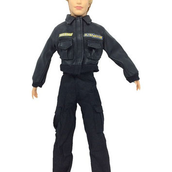 NK Original Prince Clothes Combat Police Uniform Cop Outfit For Barbie Boy Male Ken Doll For Lanard 1 6 Soldier Best Gift 018A