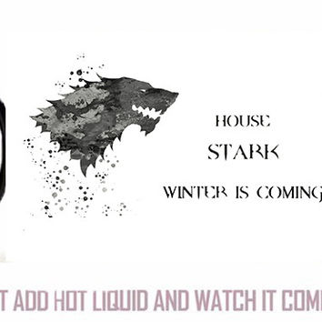 game of thrones mugs winter is coming mug heat sensitive Black color changing morphing coffee house stark  cold hot cups mugs