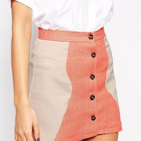 Jovonna Rose Tweed Mix Mini Skirt