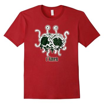 FSM Flying Spaghetti Monster r'Amen Holy Pastafarian Shirt
