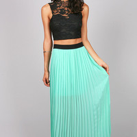Pleat Perfect Maxi Skirt | Long Skirts at Pink Ice