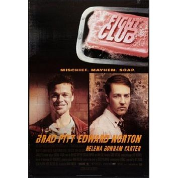Fight Club Movie poster Metal Sign Wall Art 8in x 12in