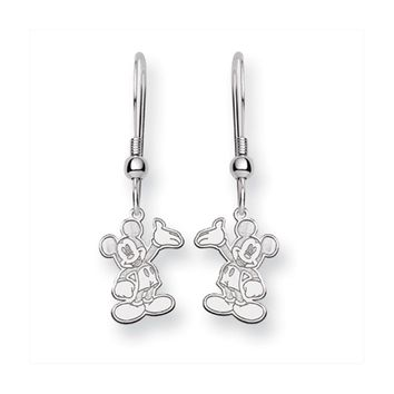 Disney's Waving Mickey Mouse Dangle Earrings in Sterling Silver