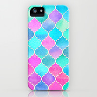 Bright Moroccan Morning - pretty pastel color pattern iPhone & iPod Case by Micklyn