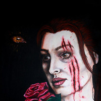 Beauty & the Beast - Horror/Macabre Painting PRINT