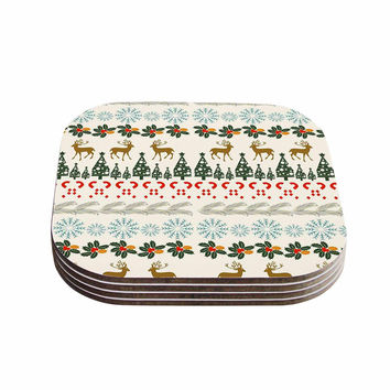 "Famenxt ""Christmas Vibes"" Holiday Pattern Coasters (Set of 4)"