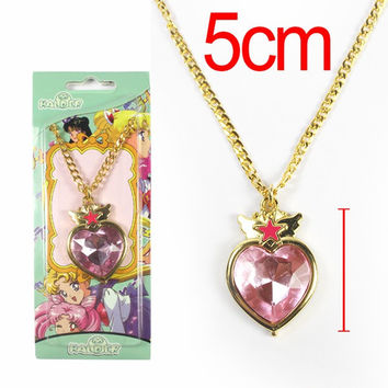 Anime Sailor Moon Necklace Metal Pendant Necklace Cosplay Accessories 5 Styles