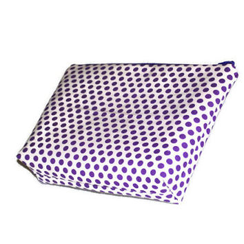 Purple Polka Dot Cosmetic Bag // Purple Make Up Pouch // Zippered Pouch //Toiletry Bag