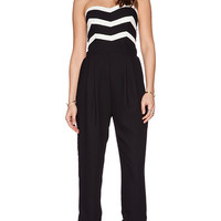 Parker Carmela Combo Jumpsuit in Black