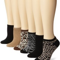 K. Bell Socks Women`s 6 Pack Heather Animal Socks, Cocoa Heather, 9-11: Clothing
