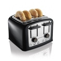 Fancy - Hamilton Beach Extra Wide Slot Toaster Black Bagel Bread Smarttoast Shock Resistant Crumb Tray