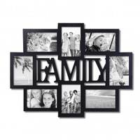 """Family"" 8 Opening Collage Picture Frame - Adeco - PF0432"