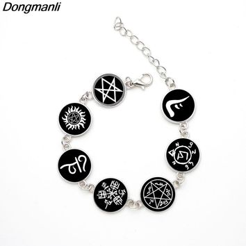 P2243 Dongmanli jewelry TV Glass Dome Handmade Supernatural Rune Amulet Bracelets