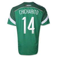 Mexico 2014 CHICHARITO Authentic Home Soccer Jersey - WorldSoccerShop.com