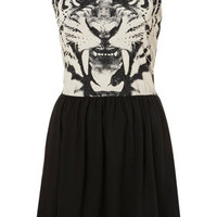 Tiger Face Skater Dress