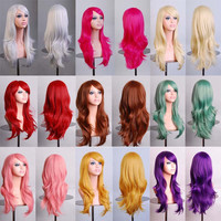 Long Curly Colored Cosplay Wigs (16 types)