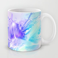 Spring Flowers in Shades of Blue and Lavender Mug by Jenartanddesign