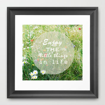 Enjoy Life Framed Art Print by cycreation