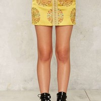 Nasty Gal Collection Forbidden City Jacquard Mini Skirt