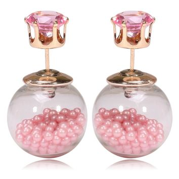 Gum Tee Tribal Earrings - Floating Caviar Pink