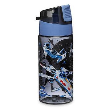 Licensed cool STAR WARS VEHICLES X-WING TIE-FIGHTER Plastic Water Bottle NEW Disney Store NEW