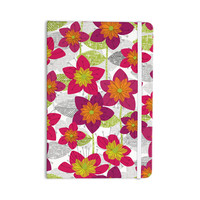 """Jacqueline Milton """"Star Flower"""" Floral Pink Everything Notebook"""