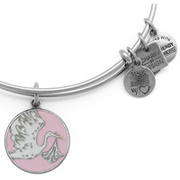 Alex and Ani Special Delivery Stork Baby Pink Rafaelian Silver