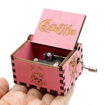 Star Wars Force Episode 1 2 3 4 5 36 Sailor Moon Music Box Game Of Thrones  Sailor Moon The Godfather Wooden Hand Cranked Theme Music Birthday Gifts AT_72_6