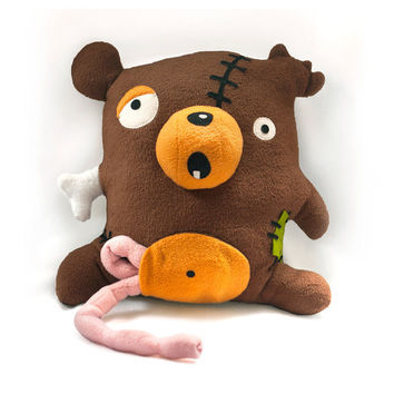 Zombie Bear pattern - PDF stuffed animal sewing pattern - halloween