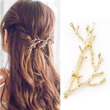 LNRRABC Women Silver/Gold Hairpin Personality Princess Exaggeration Antler Hair Arborization Fashion Hair Wear Accessories