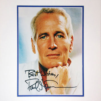 FRAMED 8X10 PHOTOGRAPH - AUTOGRAPHED BY PAUL NEWMAN