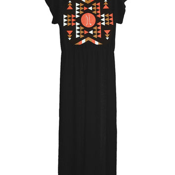Aztec Native American Indian Long Maxi Dress Gown