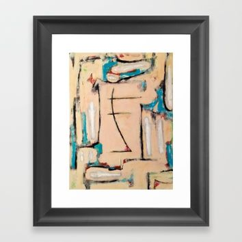 Peasants Increasing Humanism Framed Art Print by EXIST NYC